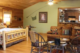 06 Bears Knob CabinLiving area and Bed-Large