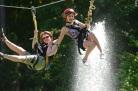 ziplining Sunshine Stables